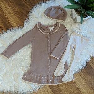 Catherine Malandrino Mini Sweater Dress 3pc Set